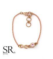 Infinity Armband + Glaskristall rosévergoldet