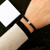 Partnerarmband schwarz weiß