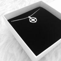 Kompass Kette Silber 925
