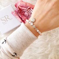 Initialen Armband Perlen.