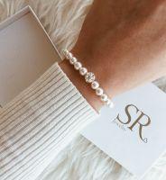 Perlenarmband mit Strasskugel