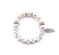 Kinderarmband mit Namen und Perlen online bestellen.