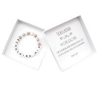 Geschenk Einschulung Mädchen Schulkind Armband mit Namen personalisierte Geschenkbox
