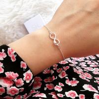 Infinity Armband Unendlichkeitszeichen mit Herz Symbol 925 Sterling Silber