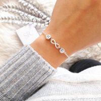 Zartes Armband Infinity Perle Unendlichkeit