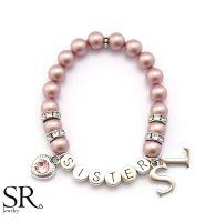 Geschenk Schwester Armband. Personalisiertes Armband mit Namen
