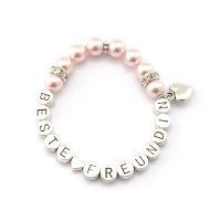 Armband Beste Freundin Geschenk. Freundschaftsarmband Perlen
