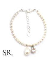Armband zarte Perlen Braut