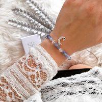 Edelstein Armband Perlen blau