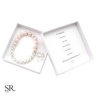 Brautjungfer Armband Metallbuchstaben + ICH BRAUCHE... Box