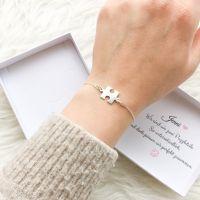 Puzzleteil Armband Silber 925 + Geschenkbox