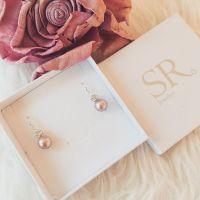 Perlenohrringe Braut Hochzeit altrosa