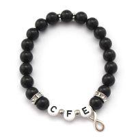Initialen Armband mit Perlen