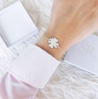 Kleeblatt Armband 925 Silber