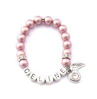 Kinderarmband mit Gravur online kaufen. Kinderarmband mit Perlen und Namen.