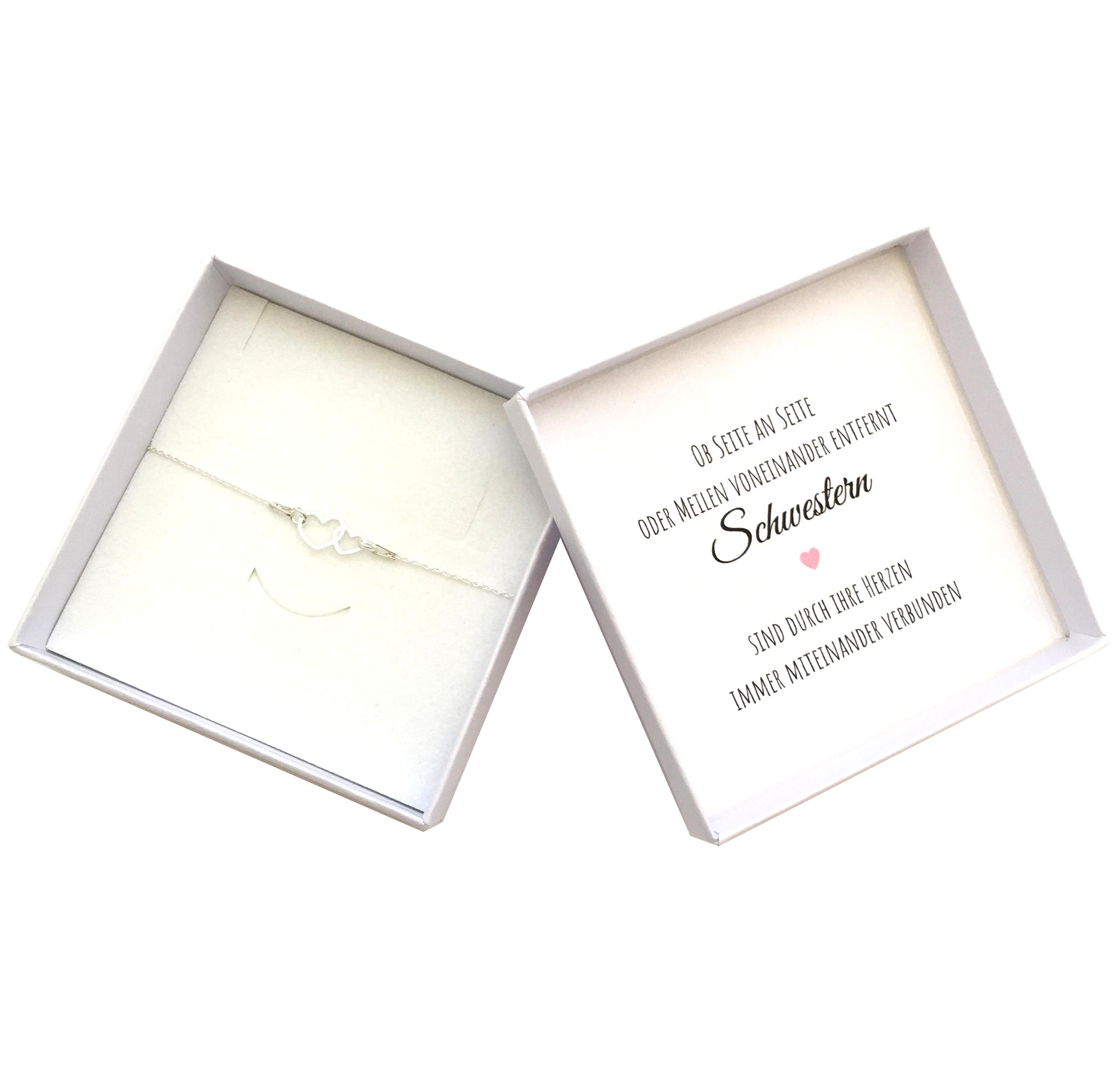 Geschenk Schwester Herz Armband Kaufen Sr Jewelry