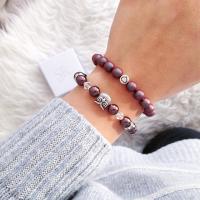 Armband Eule mit Perlen. Perlenarmband Eule.