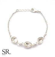 Braut Armband 3 Mini Tropfen Kristalle
