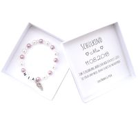 Geschenk Einschulung Mädchen Armband mit Namen personalisierte Geschenkbox