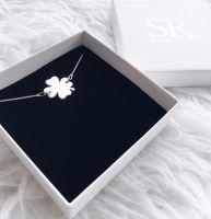 Kleeblatt Halskette 925 Silber