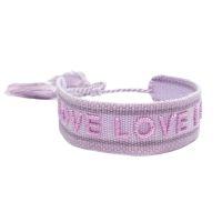 Armband love love love lila