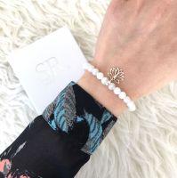 Edelstein Armband Jade Lotus