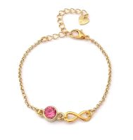 Infinity Armband + Glaskristall vergoldet