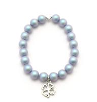 Perlenarmband Kleeblatt Herz türkis kaufen