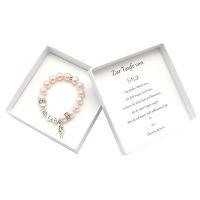 Taufgeschenk Mädchen Armband. Taufarmband mit Perlen.